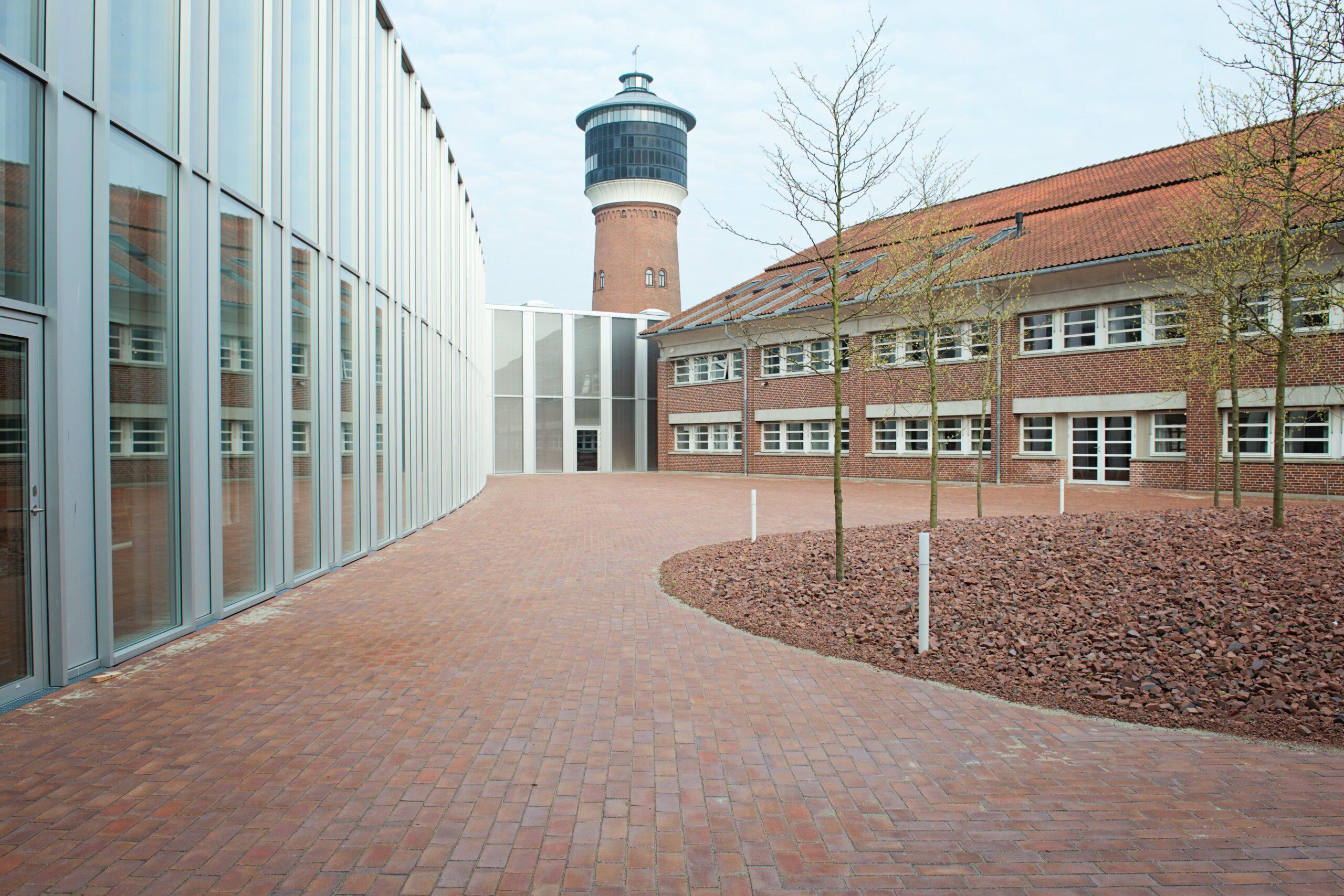 Belægningsarbejde ved Tønder Rådhus